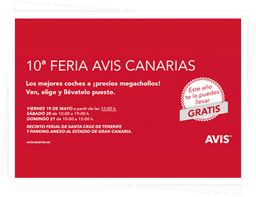 The Avis Canarias second-hand car fair is 10 years old and, to celebrate the more than 600 reserves that are made this year, one of its super offers is raffled between all those customers who have made a reservation during the weekend.